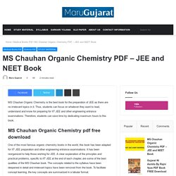 MS Chauhan Organic Chemistry PDF – JEE And NEET Book - Maru Gujarat