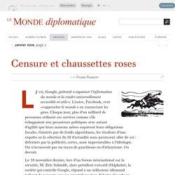 Censure et chaussettes roses, par Pierre Rimbert (Le Monde diplomatique, janvier 2018)