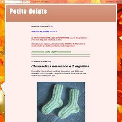 Chaussettes naissance à 2 aiguilles