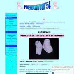 Chausson chaussettes prématuré