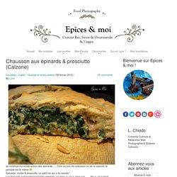 Calzone aux épinards et prosciutto