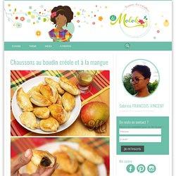 Chaussons au boudin créole et à la mangue