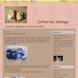 Tuto chaussons bébé au crochet - Le blog de Catherine Solange