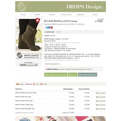 "St Louis Boots - Chaussons DROPS au point de riz, en ""Eskimo"". Du 35 au 42 - Free pattern by DROPS Design"
