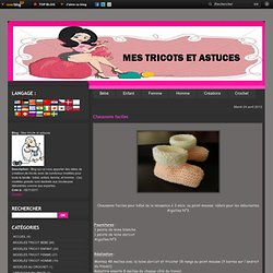 Chaussons faciles