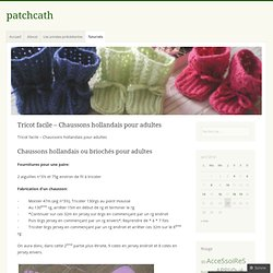 Tricot facile – Chaussons hollandais pour adultes | patchcath
