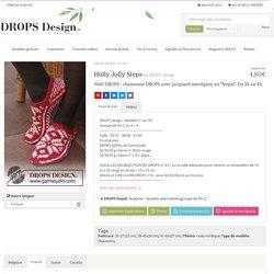 """Holly Jolly Steps / DROPS Extra 0-1057 - Noël DROPS: chaussons DROPS avec jacquard norvégien, en """"Nepal"""". Du 35 au 43. - Modèle gratuit de DROPS Design"""