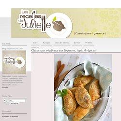 Chaussons végétaux aux légumes, lupin & épices - Les recettes de Juliette