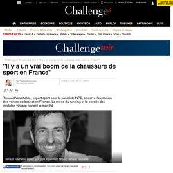 """""""Il y a un vrai boom de la chaussure de sport en France"""" - 13 novembre 2015"""