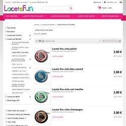 Lacets de chaussures cirés en coton et couleurs fantaisie en ligne - Lacets Fun