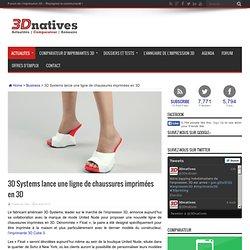 3D Systems lance une ligne de chaussures imprimées en 3D