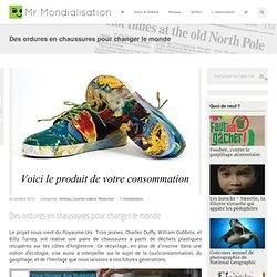 Des ordures en chaussures pour changer le monde