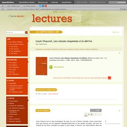 Louis Chauvel, Les classes moyennes à la dérive