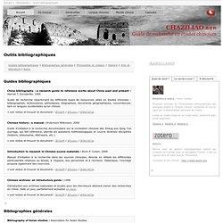Chaziliao 查资料: Guide de recherche en études chinoises - Outils bibliographiques