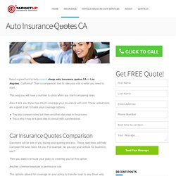 Cheap Auto Insurance Quotes