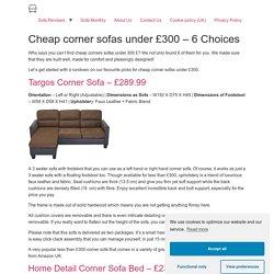 Cheap corner sofas under £300 - 6 Choices