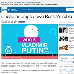 Cheap oil drags down Russia's ruble - Aug. 17, 2015