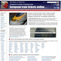 How to buy cheap European train tickets