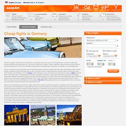 Germany Flights - Find cheap flights to Germany - easyJet.com