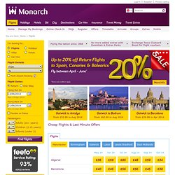 Monarch | Monarch Airlines | Cheap Flights