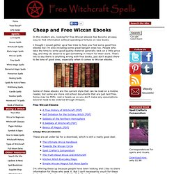 Wiccan Ebooks