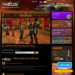 Buy Cheap Wow Gold from the Best Place Online