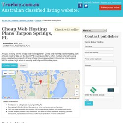 Cheap Web Hosting Plans Tarpon Springs, FL