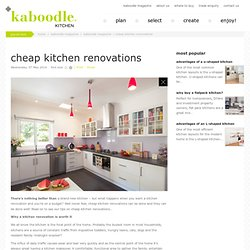 cheap kitchen renovations