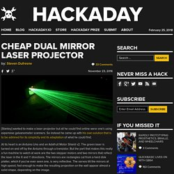 Cheap Dual Mirror Laser Projector
