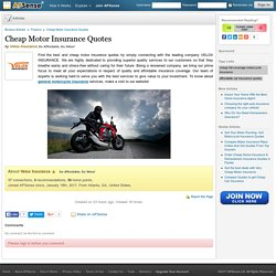 Cheap Motor Insurance Quotes by Velox Insurance