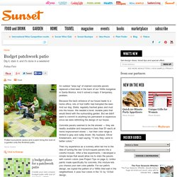 Cheap Patio idea - Sunset Mobile