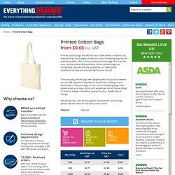 Printed cotton bags uk