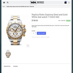 Cheap Replica Rolex Daytona Steel and Gold White dial watch 116523 WD For Sale