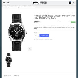 Cheap Replica Bell & Ross Vintage Mens Watch BRV 123 Officer Black For Sale
