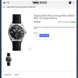 Cheap Replica Bell & Ross Vintage Mens Watch BRV 123 Original Black For Sale