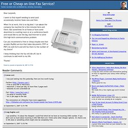 Free or Cheap on-line Fax Service?
