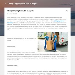 Cheap Shipping from USA to Angola