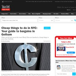 Cheap things to do in NYC: Your guide to bargains in Gotham