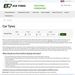 Buy Cheap Car Tyres Online Southampton