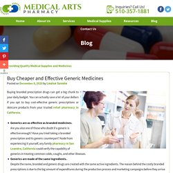 Buy Cheaper and Effective Generic Medicines