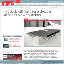 This dock will make for a cheaper MacBook Air workstation – Computer Chips & Hardware Technology
