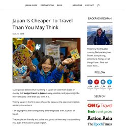 Japan Is Cheaper To Travel Than You May Think