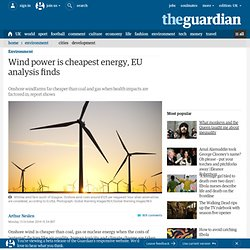 Wind power is cheapest energy, EU analysis finds