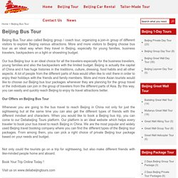Cheapest Beijing Bus Tour, Small Group Seat-in Coach 1-day trips
