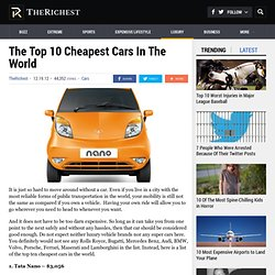 The Top 10 Cheapest Cars In The World