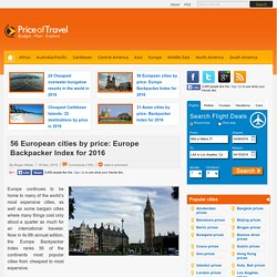Cheapest cities in Europe in 2014 - 51 major European cities by price