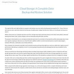 Cheapest Cloud Storage