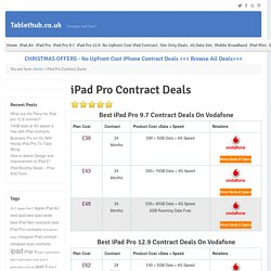 Cheapest iPad Pro Contracts - Best iPad Pro 9.7 & 12.9 Contract Deals on EE, Vodafone