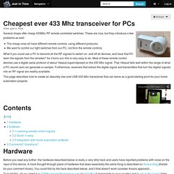 Cheapest ever 433 Mhz transceiver for PCs - Just in Time