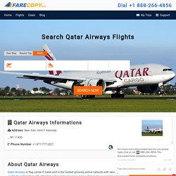 Qatar Airways - Cheapest Flights Booking - FareCopy.com
